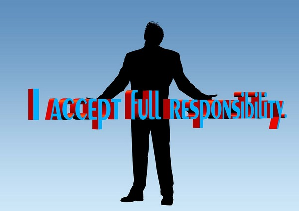 I Accept a Fully Responsibility, a man declares