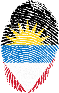 Antigua and Barbuda fingerprint flag