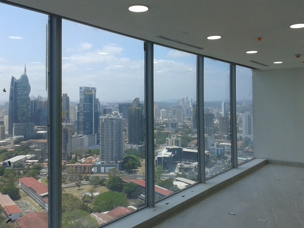 A view of Panama city from an office